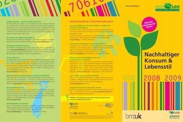 Nachhaltiger Konsum & Lebensstil - Forum Umweltbildung