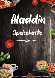 Speisekarte Aladdin Restaurant