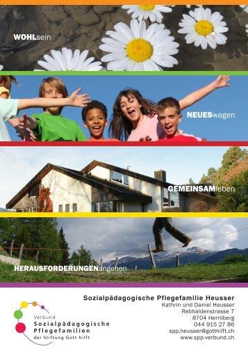 Familienportrait - Verbund sozialpädagogische Pflegefamilien