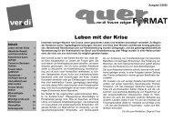 Zeitschrift quer ver.di Frauen Bayern: Leben mit der Krise (Ausgabe 2/2020)