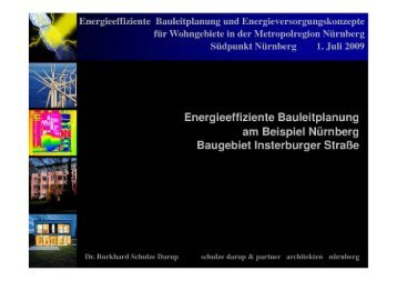 Energieeffiziente Bauleitplanung am Beispiel Nürnberg Baugebiet ...