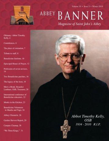 Abbot Timothy Kelly, OSB - St. John's Abbey