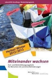 Miteinander wachsen - Lebenshilfe Vorarlberg