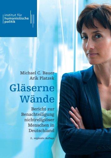 Gläserne Wände – Bericht zur Benachteiligung nichtreligiöser Menschen in Deutschland