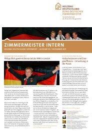 ZIMMERMEISTER INTERN - Holzbau Deutschland