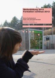 Weiterbildung 2012 Formation continue 2012 - AHB - Berner ...