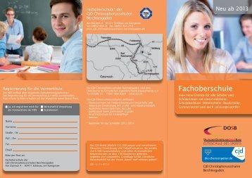 Fachoberschule - CJD Christophorusschulen