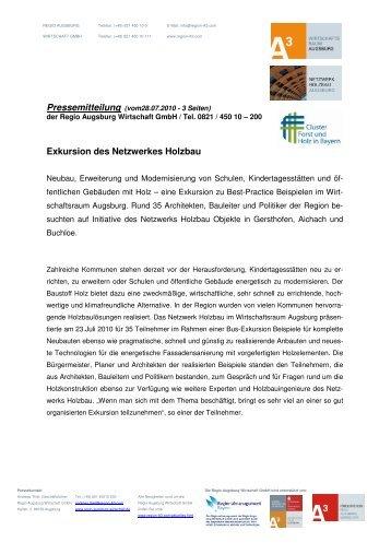 Exkursion des Netzwerkes Holzbau - LifePR.de