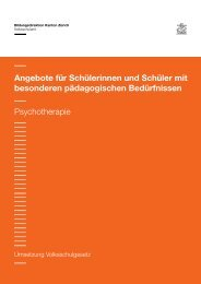 08 Psychotherapie - Volksschulamt - Kanton Zürich