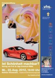 Flugblatt, PDF - Volkshochschule Wiesbaden