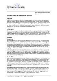 Abmahnungen im schulischen Bereich - Lehrer-Online