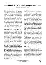 Fehler in Evolutions-Schulbüchern? - Wort und Wissen