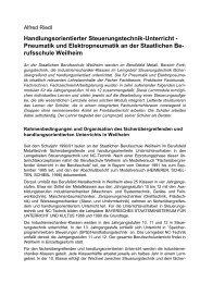 Pneumatik und Elektropneumatik an der Staatlichen ... - Publikationen
