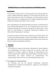 Rechtliche Hinweise zur Nutzung des Internets an ... - mebis - Bayern