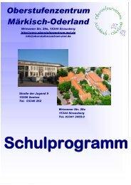 Schulprogramm - Oberstufenzentrum Märkisch-Oderland