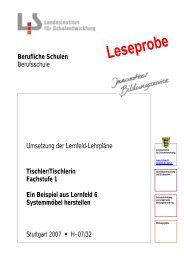 Tischler/Tischlerin Fachstufe 1 Ein Beispiel aus Lernfeld 6 ...
