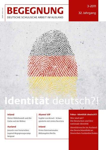 BEGEGNUNG, Deutsche Schulische Arbeit im Ausland, Ausgabe 03 ...