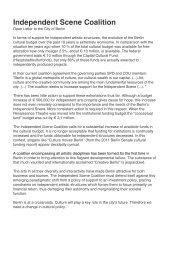 Independent Scene Coalition - Open Letter-1 - Radialsystem V