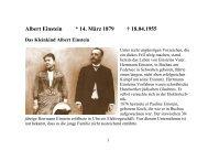 Albert Einstein * 14. März 1879 † 18.04.1955 - Max-Planck ...