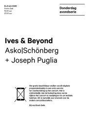2020 10 08 Ives & Beyond - Asko|Schönberg + Joseph Puglia