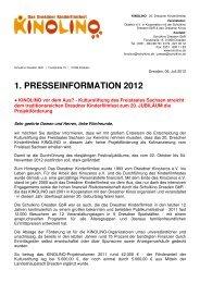 1. presseinformation 2012 - Schulkino Dresden