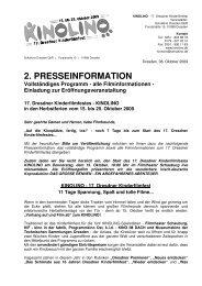 2. PRESSEINFORMATION Vollständiges Programm - Schulkino ...