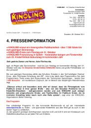 4. Presseinformation - Schulkino Dresden