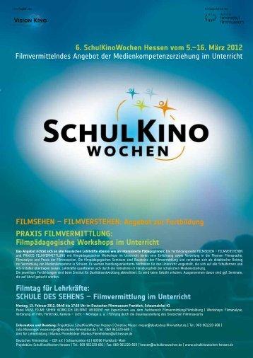 Angebot zur Fortbildung - SchulKinoWochen Hessen