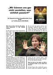 Interview mit F Dinda gestaltet