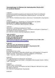Veranstaltungen im Rahmen der Interkulturellen Woche 2011 im ...