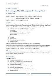 Entwicklung und Durchführung einer IT ... - Schulkrei.de