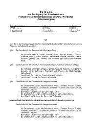 Festlegung der Schulbezirke im Primärbereich der Samtgemeinde ...