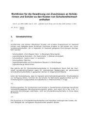 Richtlinien für die Gewährung von Zuschüssen Schullandheim…
