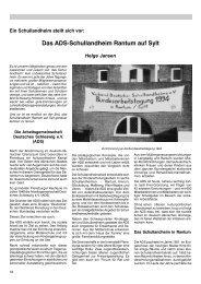 Das ADS-Schullandheim Rantum auf Sylt - Verband Deutscher ...
