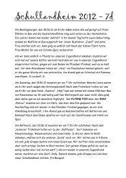 Schullandheim 2012 - 7d - Dollinger Realschule