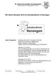 Wir feiern Silvester 2012 im Schullandheim in Herongen - Dr. Isidor ...