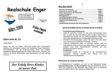 Realschule Enger Eltern-Info Nr. 83