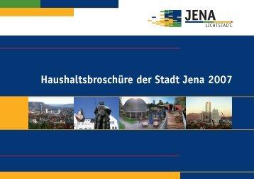 Haushaltsbroschüre der Stadt Jena 2007 - Bürgerhaushalt.org