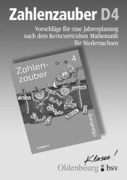 Zahlenzauber 4 - Oldenbourg Verlag