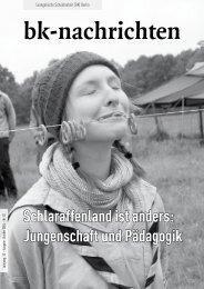 Schlaraffenland ist anders: Jungenschaft und Pädagogik - (BK) Berlin