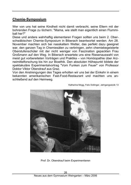 Ausgabe 1/2006 (März) - Gymnasium Weingarten