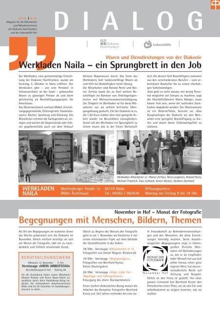 Werkladen Naila Diakonie Hochfranken