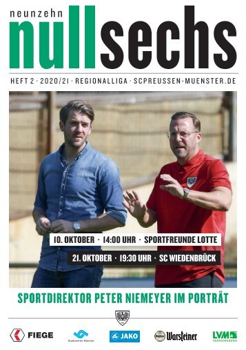 nullsechs Stadionmagazin - Heft 2 2020/21
