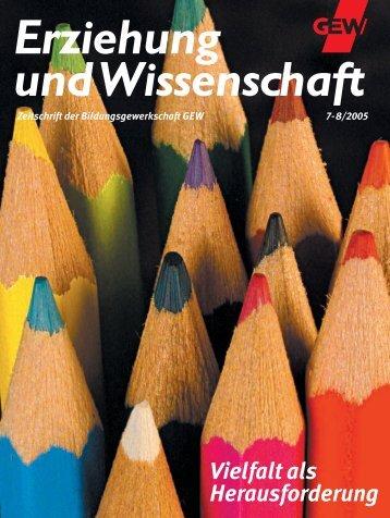 Erziehung und Wissenschaft 7-8/2005 - GEW