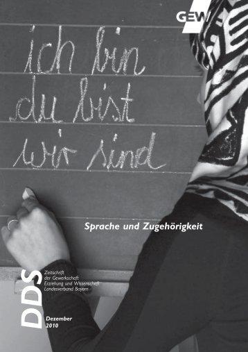 Sprache und Zugehörigkeit - GEW Landesverband Bayern