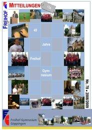 Freihof Mitteilungen 2008 LQ - Freihof-Gymnasium Göppingen