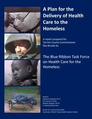 A Plan for the Delivery of Health Care to the ... - City of Fort Worth