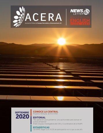 Newsletter ACERA - Septiembre 2020