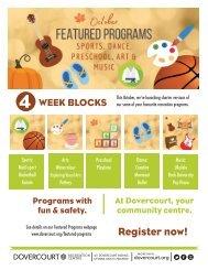 Dovercourt Featured programs October - flyer