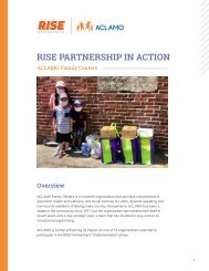 RISE PARTNERSHIP IN ACTION- CASE STUDY: ACLAMO Family Centers